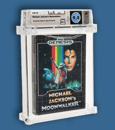 Michael Jackson's Moonwalker - Wata 9.8 A++ Sealed, GEN Sega 1990 USA.