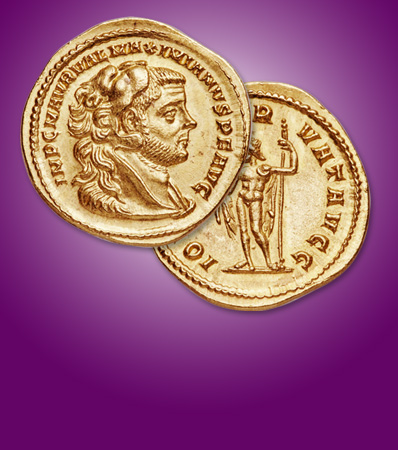 Ancients: Maximian, First Reign (AD 286-310). AV aureus (21mm, 5.28 gm, 6h). NGC MS 5/5 - 4/5, Fine Style
