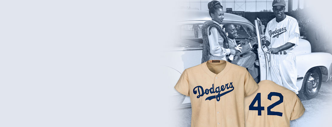 1947 Jackie Robinson Game Worn Brooklyn Dodgers Rookie