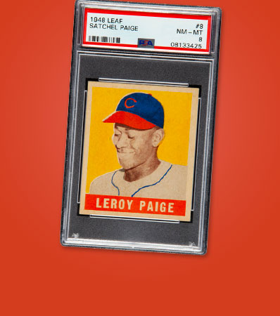 1948 Leaf Satchel Paige #8 PSA NM-MT 8 - Pop Five, None Higher!