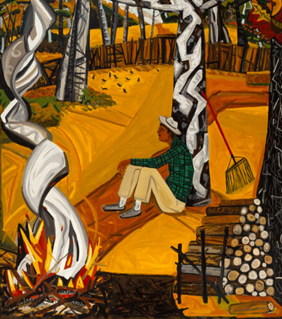 David Bates (American, b. 1952) Burning Leaves, 1983