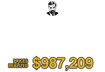 Thank you for your participation in the David Hall T206 Collection Part IV Sports Auction  | Prices Realized: $987,209
