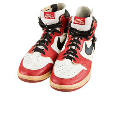 1985-86 Michael Jordan Game Worn & Signed Air Jordan I Sneakers with Post-Injury Modification
