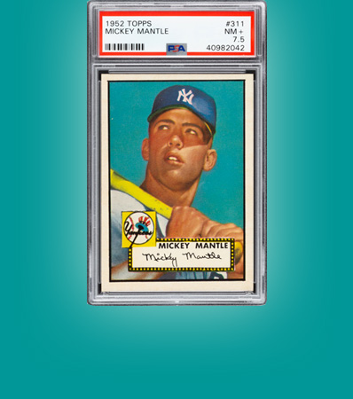1952 Topps Mickey Mantle #311 PSA NM+ 7.5