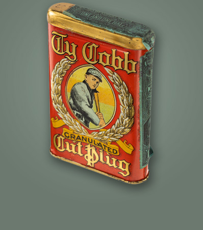 Extremely Rare Ty Cobb Tobacco Tin - The Finest Example on the Planet!