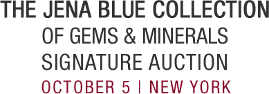 October 4  The Jena Blue Collection of Gemstones Signature Auction - New York #5434