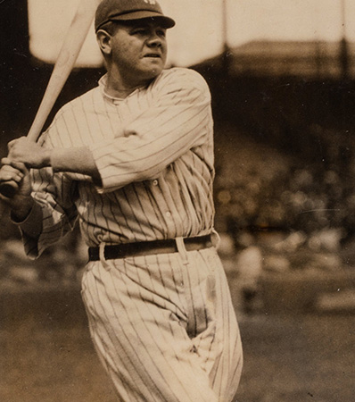 Circa 1920 Babe Ruth Original Photograph by Charles Conlon, PSA/DNA Type 1
