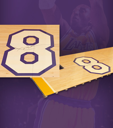 2016 Kobe Bryant Number '8' Staples Center Hardwood Used in His Historic Sixty-Point Farewell Game