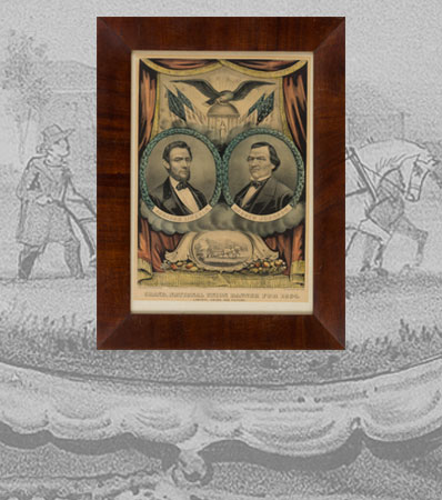 Lincoln & Johnson: Jugate Grand National Banner