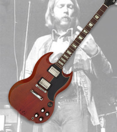 Duane Allman's Circa 1961/1962 Gibson SG, Cherry, Solid Body Electric Guitar, Serial #15263 Owned and Played by Graham Nash.