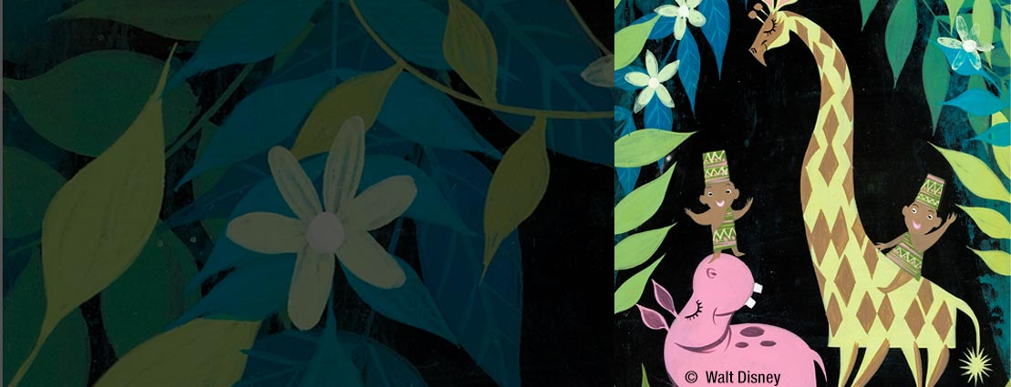Mary Blair - It's a Small World Africa Concept Painting (Walt Disney, 1964/66).