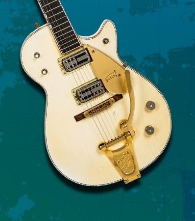1958 Gretsch White Penguin Solid Body Electric Guitar, Serial # 26377