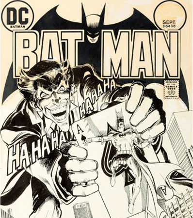 Neal Adams Batman #251 Cover The Joker Original Art (DC, 1973)