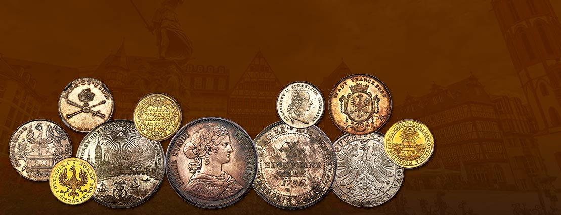 Featured World Coins of a Special Collection of Frankfurt Coins