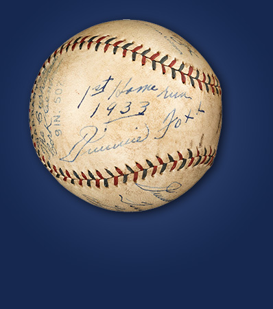 1933 Jimmie Foxx Single Signed Home Run Baseball Inscribed to His Son from The Jimmie Foxx Collection