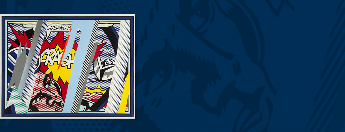 Roy Lichtenstein (1923-1997) Reflections on Crash, from Reflection Series, 1990