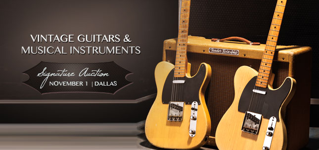2014 November 1 Vintage Guitars & Musical Instruments Signature Auction - Dallas #7119