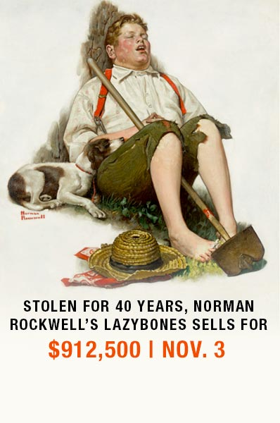 Stolen for 40 Years, Norman Rockwell's Lazybones Sells for $912,500