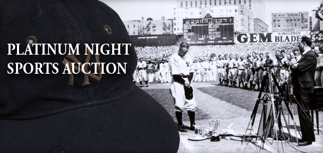 July 31 - Aug 1 Sports Collectibles Platinum Night Auction - Cleveland #7115