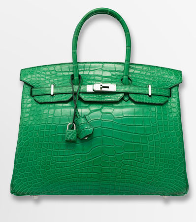 Hermes 35cm Matte Cactus Alligator Birkin Bag with Palladium HardwareP Square, 2012