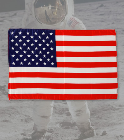 Apollo 11 Flown Largest Size American Flag Directly From The Armstrong Family Collection