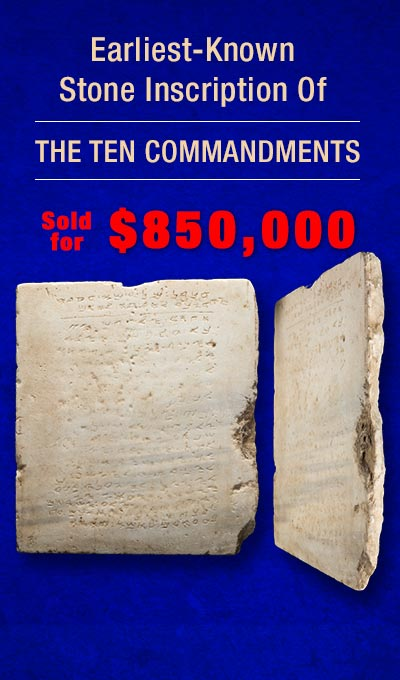 Earliest 10 Commandments Tablet Sold for $850,000
