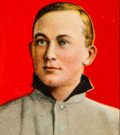 1909-11 T206 Ty Cobb Portrait Red Background with Ty Cobb Back (Lucky 7 Find) PSA VG+ 3.5.
