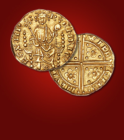 Henry III (1216-1272) gold Penny of 20 Pence ND (c. 1257) MS63 NGC