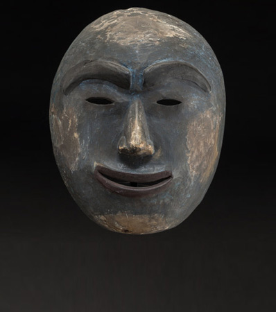 An Eskimo Polychrome Wood Mask