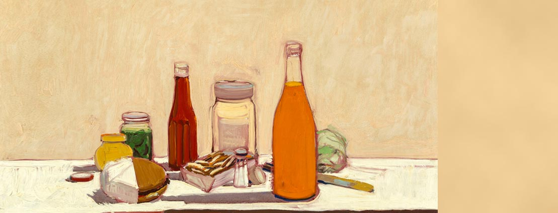 Wayne Thiebaud (b. 1920) Orange Drink, 1961