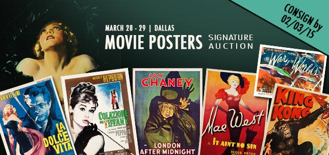 2015 March 28 - 29 Movie Posters Signature Auction - Dallas #7106