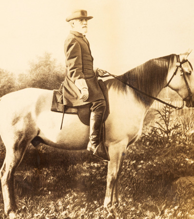 Robert E. Lee: Large Mounted Albumen of Lee on Traveller
