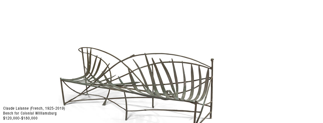 Claude Lalanne (French, 1924-2019) Garden Bench from the DeWitt and Lila Archeson Wallace Garden at Colonial Williamsburg, Virginia, 1984