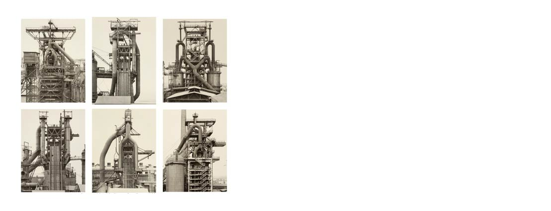 Bernd Becher (German, 1931-2007) and Hilla Becher (German, 1934-2015) Blast Furnaces, Frontal Views (6 works), 1979-1989