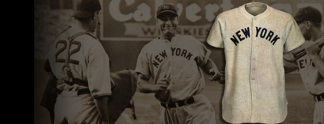 1937 Lou Gehrig Game Worn New York Yankees Jersey with Photo Matches to Two Different Home Run Games, MEARS A9 & SGC Excellent.