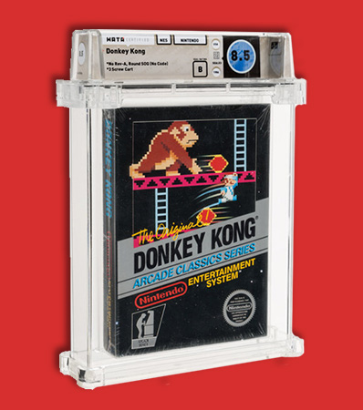 Donkey Kong - Wata 8.5 B Sealed [No Rev-A, Round SOQ, Mid Production], NES Nintendo 1986 USA.