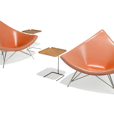 George Nelson, Pair of Coconut Lounge Chairs from Craig Ellwood's Hunt House