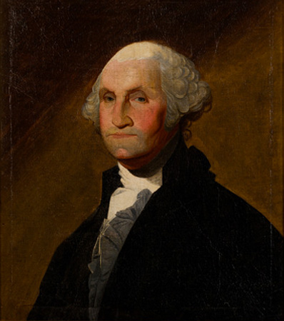 George Washington: Portrait Dated 1791 After Gilbert Stuart