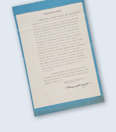 Benjamin 'Bugsy' Siegel Legal Document Signed