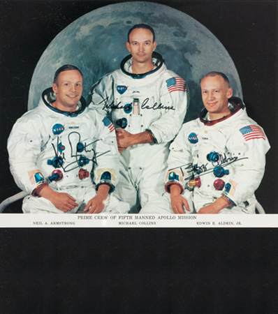 Apollo 11: Deluxe Limited Edition Framed Presentation including a Crew-Signed Insurance Cover