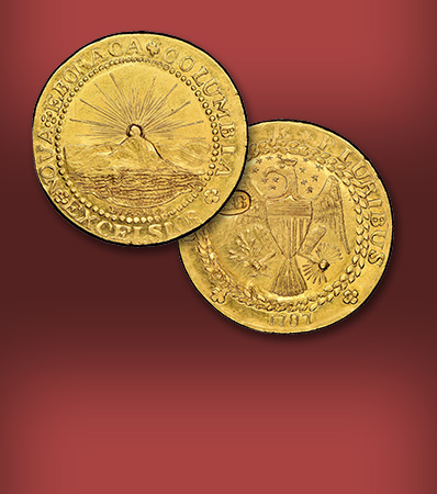 The World's Most Famous Coin 1787 New York-Style Brasher Doubloon, W-5840, MS65★ The Finest-Known Example Ex: Stickney-Ellsworth-Garrett-Partrick