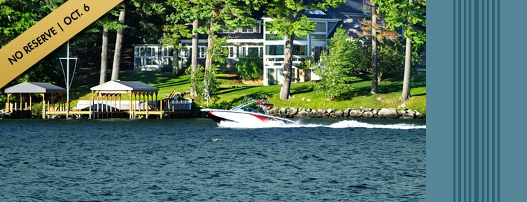 Luxury Real Estate Auction, Lake Winnipesaukee, New Hampshire