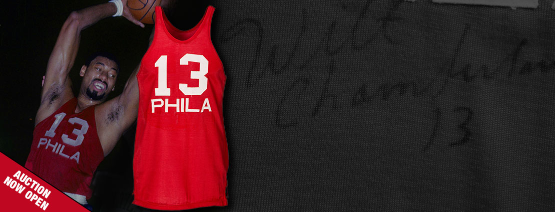 1965-66 Wilt Chamberlain Signed Game Worn Philadelphia 76ers Jersey - From Second MVP Season!