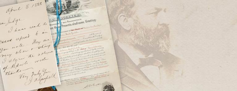 James A. Garfield. Rare Autograph Letter Signed as President