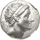 High-relief portrait tetradrachm of Antiochus II