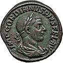 Choice Gordian III sestertius