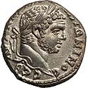 Akko-mint tetradrachm of Caracalla