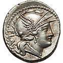 Choice Roman Republic denarius