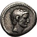 Mark Antony portrait denarius